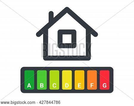 Energy Efficiency. Energy Efficiency Rating. Energy Efficiency Scale. Vector Illustration