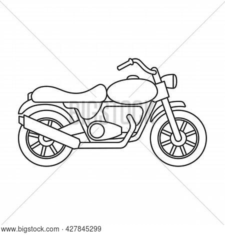 Motorcycle Vector Icon.outline Vector Icon Isolated On White Background Motorcycle.