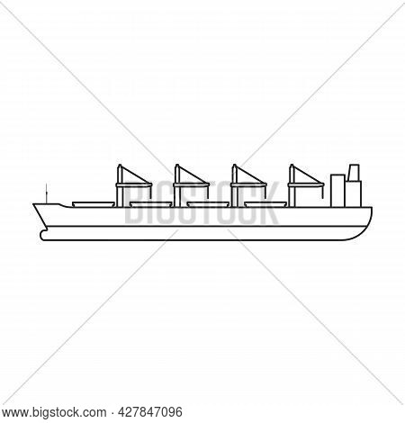 Barge Vector Icon.outline Vector Icon Isolated On White Background Barge.