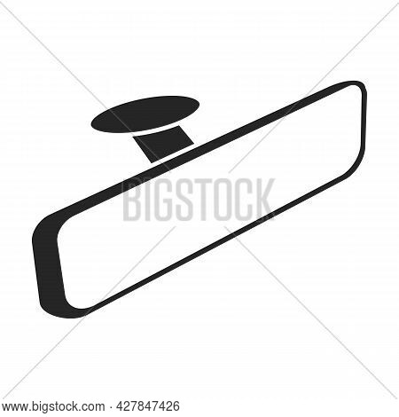 Rear View Mirrors Vector Icon.black Vector Icon Isolated On White Background Rear View Mirrors.