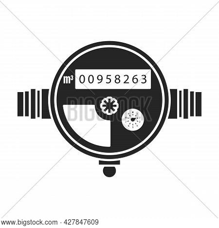 Water Meter Vector Icon.black Vector Icon Isolated On White Background Water Meter .