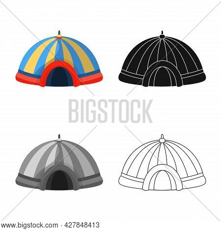 Isolated Object Of Circus And Tent Sign. Collection Of Circus And Park Stock Symbol For Web.