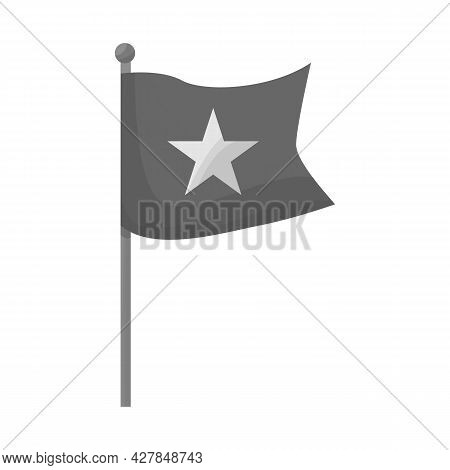 Isolated Object Of Flag And Red Sign. Collection Of Flag And Vietnamese Vector Icon For Stock.