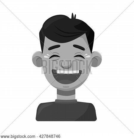 Vector Illustration Of Guy And Laugh Logo. Collection Of Guy And Emotion Stock Symbol For Web.