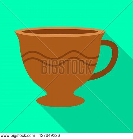 Isolated Object Of Mug And Cup Symbol. Graphic Of Mug And Ceramic Stock Vector Illustration.