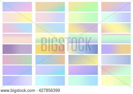 Palette On Light Background. Pastel Color Vertical Pattern. Palette In Hipster Style. Vector Illustr