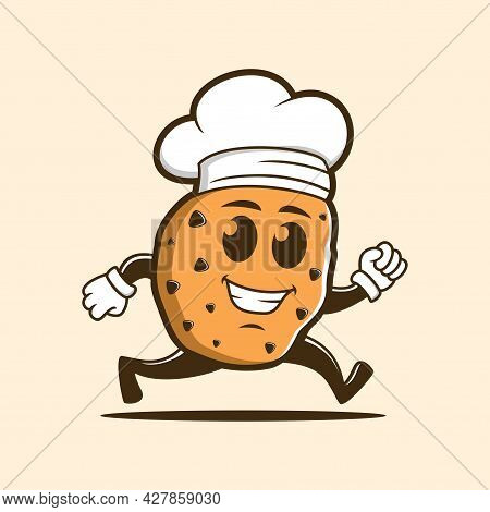 Chef Cookies With Chef Hat Character Cartoon Vector Illustration