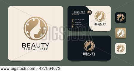 Beauty Minimal Luxury Woman Hair Spa Logo Elements For Fashion And Lifestyle. Logo Can Be Used For I