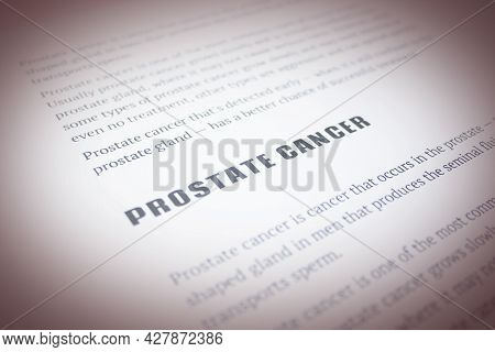 Prostate Cancer Quote On White Paper List Article November Prostate Cancer Awareness Month
