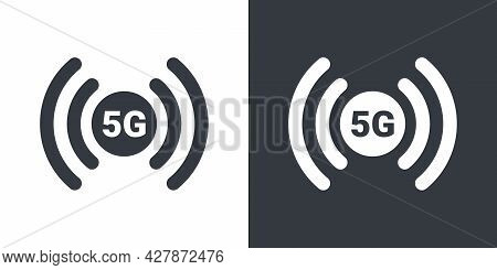 5g Symbol. 5g Icon. High Speed Internet. 5g Signal Icons. Vector Illustration