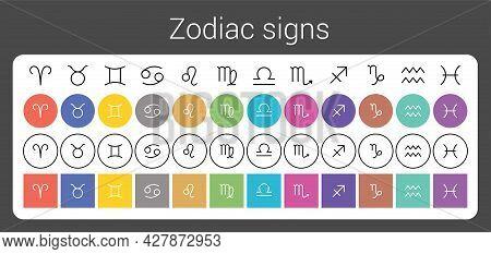Zodiac Signs: Aquarius, Libra, Leo, Cancer, Pisces, Virgo, Capricorn, Sagittarius, Aries, Gemini, Sc