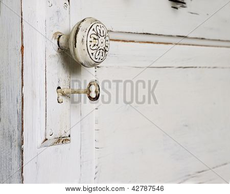 Door Knob And Skeleton Key