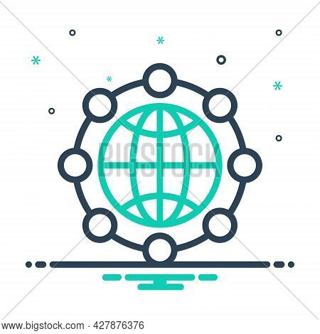 Mix Icon For Global-network Global Network Communication Tech Digitalisation Technology Cyber Global