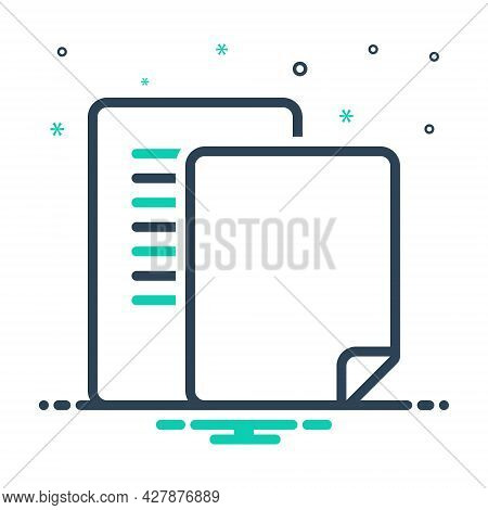 Mix Icon For Document Pagenumber Count Number Pagination Scenarios Script Letter Manuscript Certific