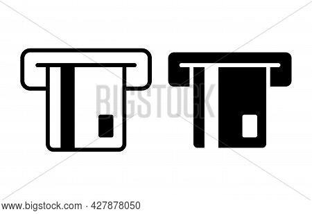 Insert Credit Card Icon. Shopping Sign. Bank Atm Symbol. Vector Illustration.