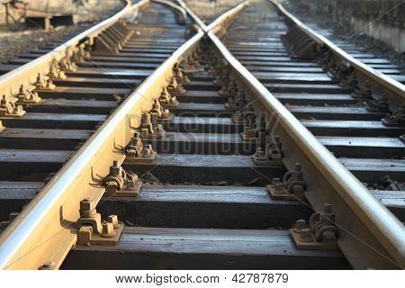 Cross on rail track