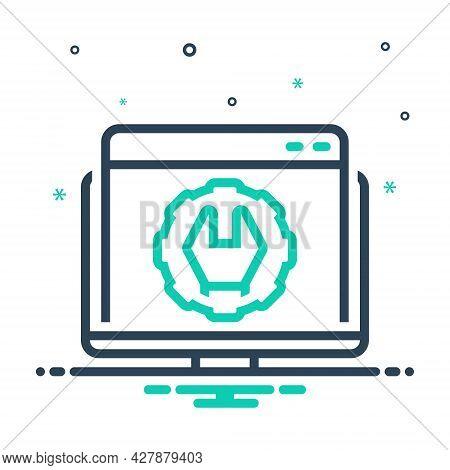 Mix Icon For Web-optimization Website Optimization Technology Development Application Customize