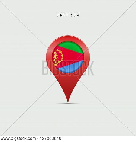 Teardrop Map Marker With Flag Of Eritrea. Eritrean Flag Inserted In The Location Map Pin. 3d Vector