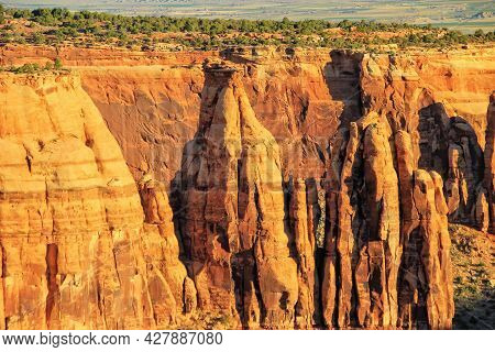 Grand View Overlook In Colorado National Monument, Grand Junction, Usa