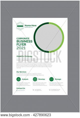 Classic Promotional Business Flyer Design Template Vector
