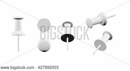 Thumbtack Mockup Isolated On White Background - 3d Render