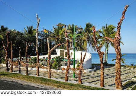 Ouvea, New Caledonia-january 9: View Of Ouvea Memorial On January 9, 2018 In Wadrilla, Loyalty Islan