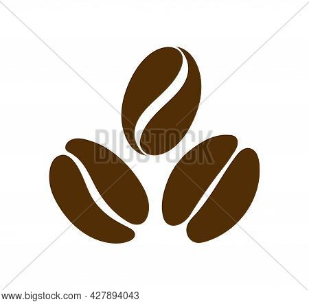 Coffee Bean Icon. Logo For Seed Or Grain Of Coffee For Cafe. Black Espresso, Arabica, Cappuccino And