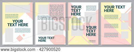 Multicolor Unique Brochure Template. Company Catalog. Flyer, Booklet, Leaflet Print, Cover Design Wi