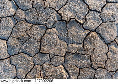 Drought Land Without Water Texture. Global Water Scarcity On The Planet. Global Warming And Greenhou