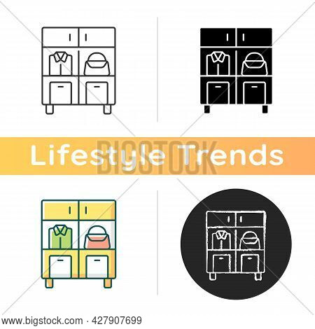 Home Organization Icon. Smart Storage Solutions. Restoring Order In Home. Maximizing Space. Reducing