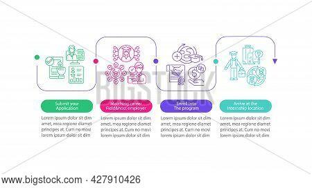 Internship Overseas Vector Infographic Template. Enroll Into Program Presentation Outline Design Ele