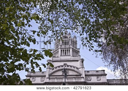 Fragment of Prince Albert  monument.  London. Kensington. UK poster