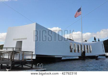 USS Arizona Memorial in Oahu, Hawaii