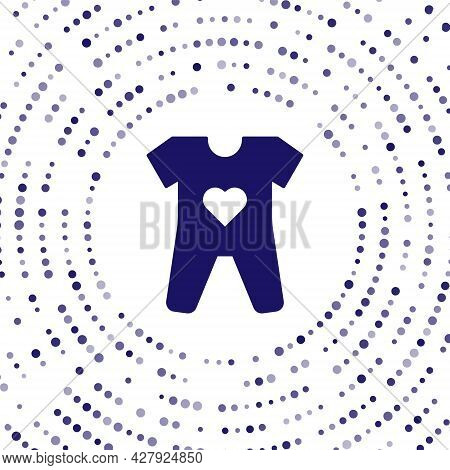Blue Baby Clothes Icon Isolated On White Background. Baby Clothing For Baby Girl And Boy. Baby Bodys