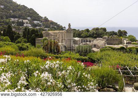 14th Century Renaissance Carthusian Monastery (certosa San Giacomo), Capri Island, Naples, Italy. It