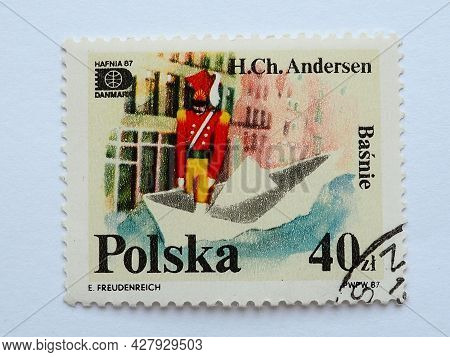Postage Stamp Steadfast Tin Soldier Hans Christian Andersen Tales And Fables 40 Zlotys With Postmark