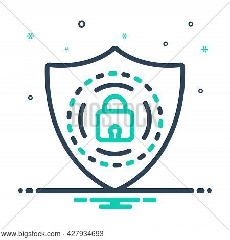 Mix Icon For Protection Shield Armor Armature Guard Security Defense Safeguard