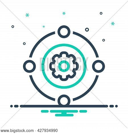 Mix Icon For Teamwork Workforce Synergy Unity Corporate Collaboration Employee Function Organization