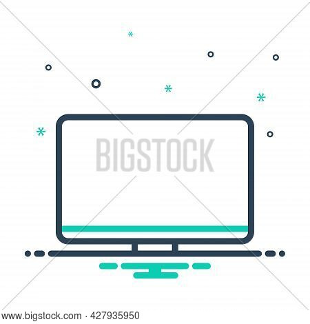 Mix Icon For Monitor Programmatic Technology Digital Electronic Software Computer Tv Screen Electron