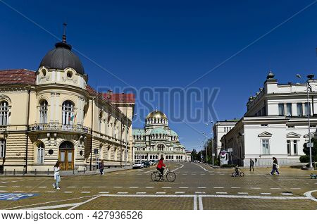 Sofia, Bulgaria - September 22, 2012: View Of The Buildings Of The National Assembly, The Bulgarian