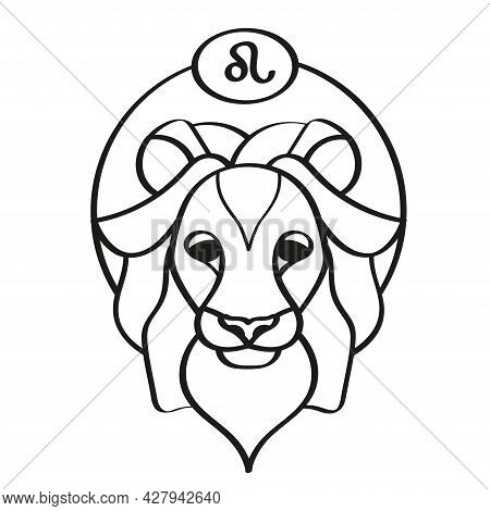 Isolated Leo Icon Outline Zodiac Sign Vector