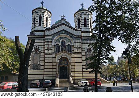 Sofia, Bulgaria -  October 26, 2012: The Church Of St. Nicholas Of Sofia Is An Orthodox Church Locat