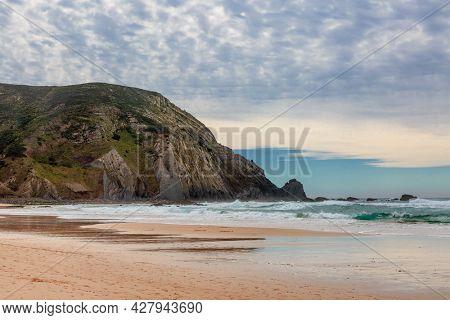 View at Cordoama beach, West Atlantic coast of Algarve region, south of Portugal.