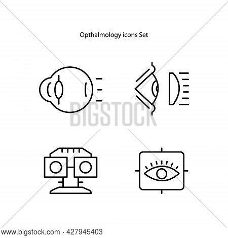 Optical Eye Contact Lens, Opthalmology. Flat Vector Icon Illustration. Optical Eye Contact Lens Opth