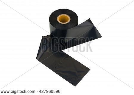 Ribbon, Thermal Transfer Dye Tape On White Background. Premium Thermal Transfer Ribbon (ttr)