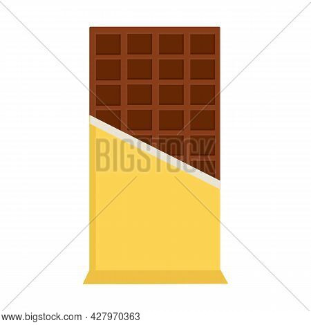 A Chocolate Bar In A Wrapper On A White Background For Use In Web Design Or Clipart