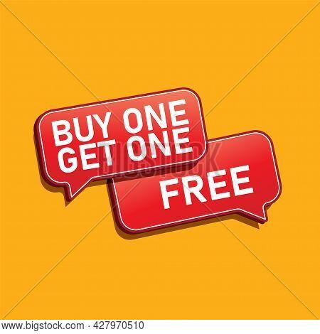 3d Render Of Buy 1 Get 1 In Green Blackground Eps 10 Vector