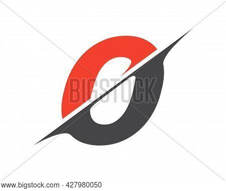 O Sliced Letter Logo. Modern O Letter Logo With Slash Concept. Initial Monogram Letter O Logo Design