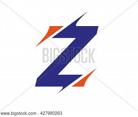 Modern Z Letter Logo With Slash Concept. Initial Monogram Letter Z Logo Design Vector. Z Sliced Lett