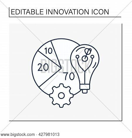 Rule Line Icon. Allocating Resources Rule. Core , Adjacent And Transformational Innovation. New Idea